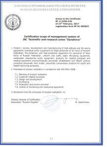 Прилож к Certific ISO 9001 2017